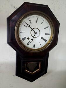 8 Day Victorian Signed E.N. Welch American Regulator Wall Clock