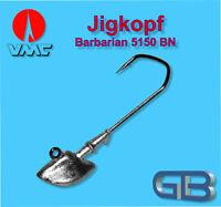2 x VMC Barbarian Jig 5150 BN 4/0 18g Jigkopf Jighaken Eriekopf Bleikopf.