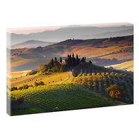 Toskana Bild Wandbild Landschaft Italien Fotoleinwand Poster 120 cm*80 cm 669