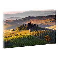Toskana Panorama Bild Italien Wandbild Fotoleinwand Poster XXL 120 cm*80 cm 703