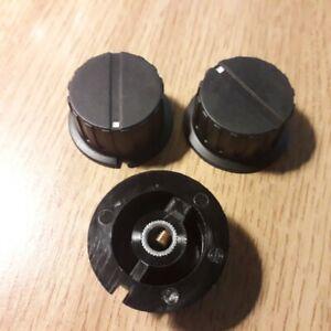 large pointer knob 6mm shaft 20mm dia skirt 35mm dia