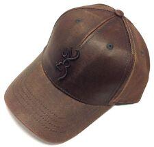 Browning Rhino Hide Brown Shooting Hat Cap