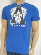 American Eagle Outfitters AEO No. 421 Tee Mens Blue Double Logo T-Shirt NEW NWT