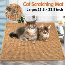 New listing Crazy Cat Scratch Post Kitty Scratching Scratcher Sisal Mat Pad Grinding Toys