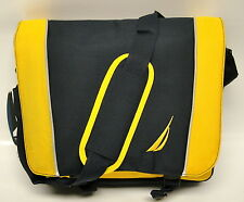NEW NAUTICA BLUE YELLOW SPINNAKER MESSENGER BAG BUSINESS BAG CASES $180