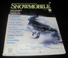 Vintage Snowmobile Magazine polaris yamaha ski doo Kawasaki arctic cat 1988