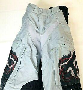 Fox Racing Men's Medium Pant Motocross Black Gray Padded Waterproof Size 32