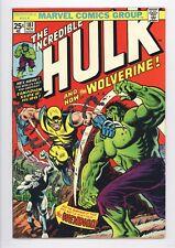 Incredible Hulk #181 Vol 1 Beautiful High Grade 1st Wolverine w/ Marvel Stamp