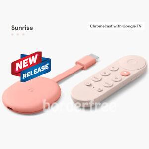 Google Chromecast with Google TV 4К Media Streamer with Google Assistant Sunrise
