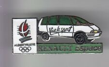 RARE PINS PIN'S .. OLYMPIQUE OLYMPIC ALBERTVILLE 92 AUTO CAR RENAULT ESPACE ~17