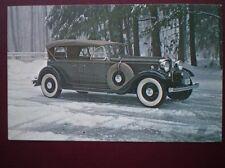 POSTCARD CAR 1932 LICOLN MODEL KB DUAL COWL PHAETON