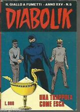 DIABOLIK ORIGINALE ANNO XXV  n°  6-  1986- RARO - OTTIMO- [ rif YY ]