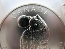 (2)-1-OZ..999 PURE SILVER BULLET & 2011 CANADA WOLF AKA LOBO COIN + GOLD & DIME
