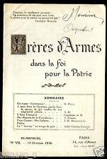 Frères d'armes dan la foi pour la patrie .N° 7 . 15 octobre 1916 ..