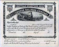 Buffalo Bradford & Pittsburgh Railroad Company Stock Certificate Pennsylvania