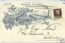 CARTOLINA d'Epoca: TRAPANI - MARSALA Pubblicitaria VINI