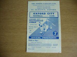 1956/7 Oxford City v Walthamstow Avenue - Isthmian League Senior Section