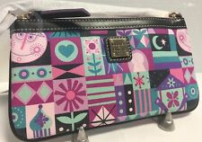 Nwt*Dooney & Bourke*Disney Parks*It's A Small World*Large Wristlet*18015A S167A