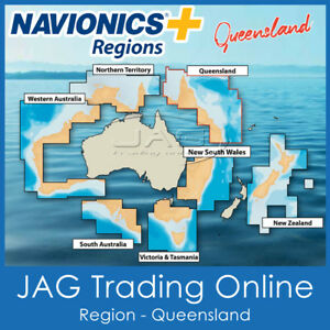 NAVIONICS+ REGIONS QUEENSLAND / QLD AUSTRALIA - GPS MAP CHART SD/MicroSD CARD