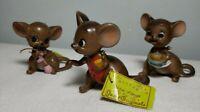 "4 Set Vintage Josef Originals Figurines ""Mouse Village"" Series with tags L@@K"
