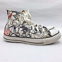Converse Hi Tops Distressed Graffiti Pop Art Style You Color  Size 5