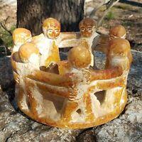 Mexican Folk Art Pottery Clay Circle Of Friends 7 Aztec Mayan Incense Ritual