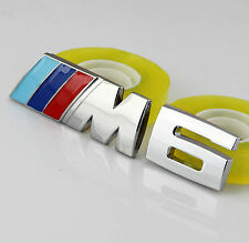Auto Car Body chrome Badge Emblems Stickers For fit M POWER M6 X6 Racing sports