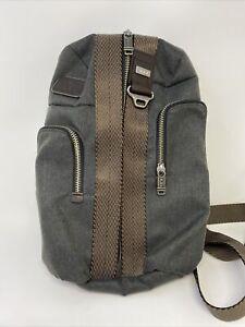 Tumi NBA Edition Alpha Bravo Saratoga Sling Anthracite/Charcoal Grey Players Bag