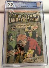 Green Lantern #85 1971 CGC 5.0 OW Pages speedy revealed as a junkie DC Comics
