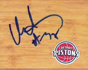 Detroit Pistons Malik Allen Signed Floorboard COA