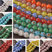 5pcs 12mm 14mm 16mm 20mm Round Lampwork Glass Loose Spacer Beads Findings