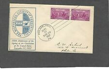 #798 3c SIGNING OF CONSTITUTION FDC-SEP 17-1937-HISTORICAL.SOCIETY OF PA. CACHET