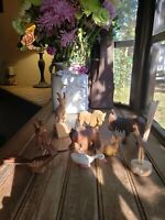 Choose 1 Hand Carved Wood Figurines BEAR Horse, Road Runner Have 6 Left SS mark