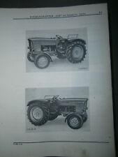John Deere Lanz 500 tracteur : ersatzteilliste 1965