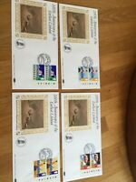 GB UK 4 Benham Silk FDC covers 1985 Lifeboat dual stamp with traffic light