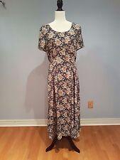 Talbots Women's Dress Floral Pattern Button Down Short Sleeve Size 10