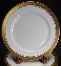 Aynsley Argosy Smooth 8360 Gold White Porcelain Set of 12 Salad Plates