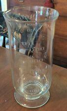 Antique Glass Beaker Engraved Scientific Chemistry
