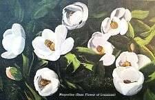 Vintage Postcard of Magnolias (State Flower of Louisiana), La3 8Ah825