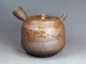 Tokoname Hand-made Mogake Teapot Kyusu by Jin, #jin023 : D92*H88mm, 320ml