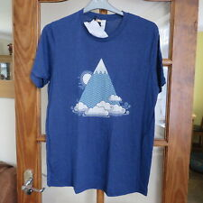 Canvas Bella Canvas Navy T/Shirt with Mountain design Size L New