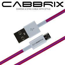 Micro USB 2.0 Ladekabel Ladegerät für Samsung XBOX HP LG Nokia HTC Sony Rot Lila