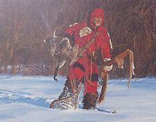 PAUL CALLE The Snow Hunter Signed #d Art Print Ltd Ed 137/950 Winter Scene Fowl