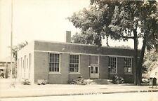 New Hampton Iowa~US Post Office~Mail Dropbox~Real Photo Postcard 1940s