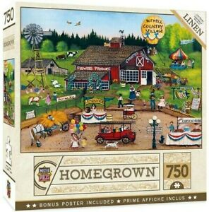 Master Pieces Homegrown - Country Pickin's - 750 Piece Linen Jigsaw Puzzle