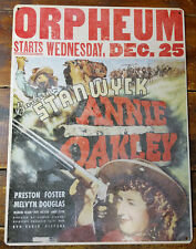 Barbara Stanwyck as Annie Oakley Old West Movie Poster Heavy Duty Metal Adv Sign