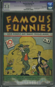 Famous Funnies #1- First Newsstand Comic 1934 CGC 3.5