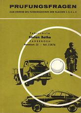 Vogel, Prüfungsfragen Führerschein 1-4, Ausg Fahrschule St. Bathe Paderborn 1967
