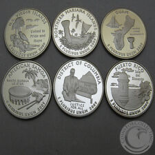 2009-S BU TERRITORY PROOF QUARTER SET OF 6 COINS