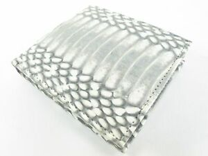 PELGIO Genuine Cobra Snake Belly Skin Leather Men's Soft Bifold Wallet Natural